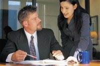 Business People in Work Pairs